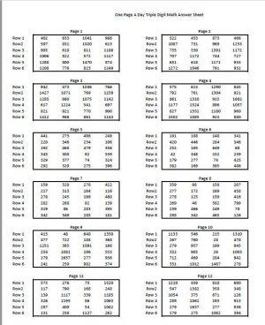triple digit math worksheets