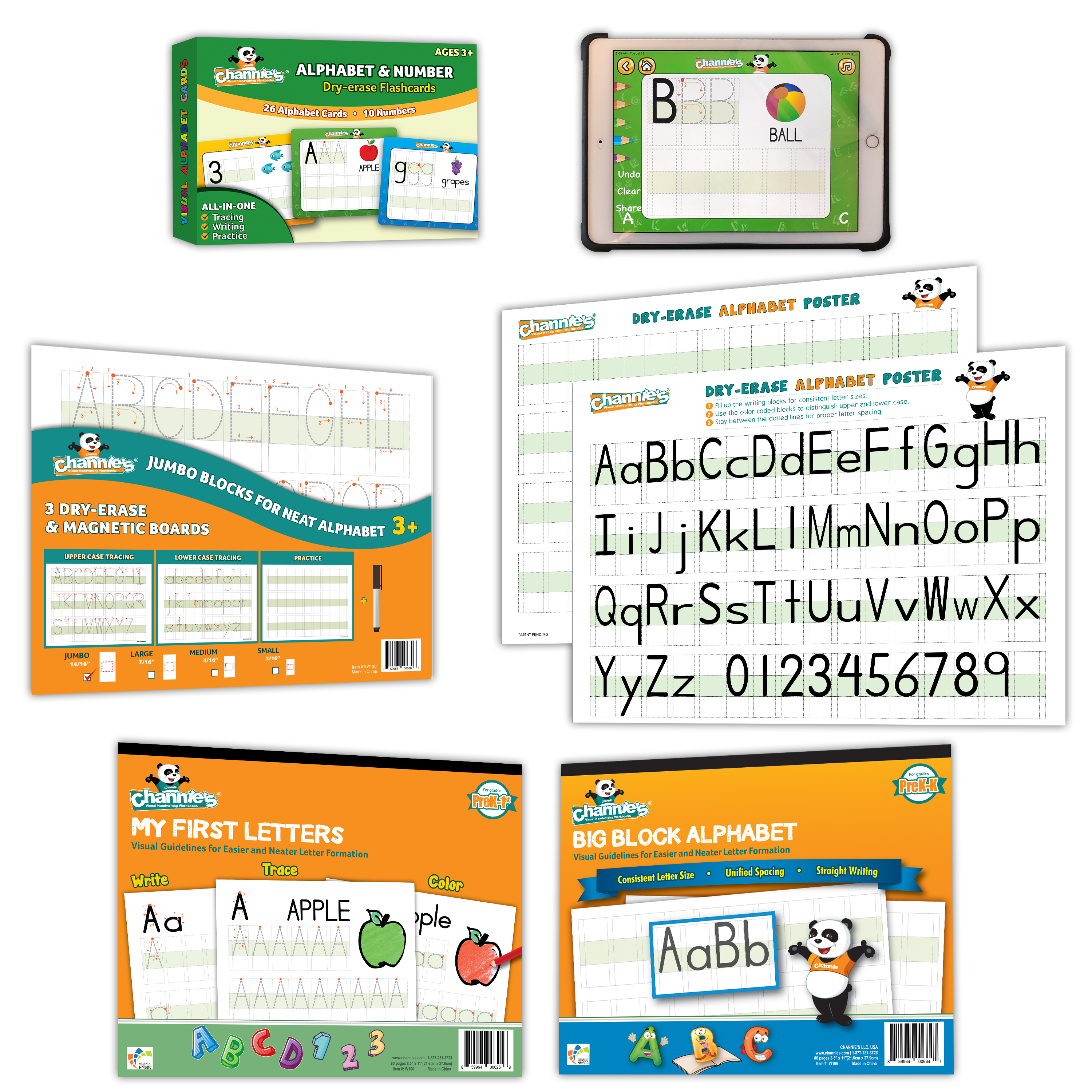 Pre K Letters | Visual Letters Complete Classroom Kit - Channies