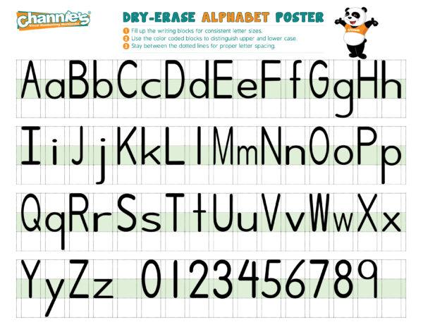 Dry-Erase Alphabet poster