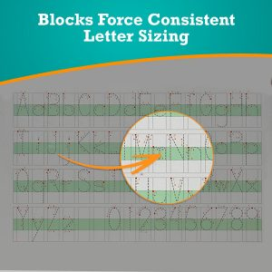 Block resizing letter