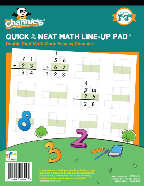 Quick & neat math line-up pad