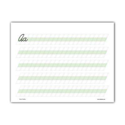 cursive sheet