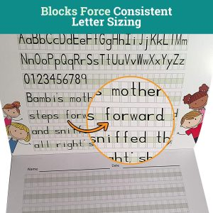 Block Force Consistent Letter Sizing