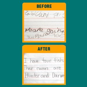 Easy Peasy Alphabet - Before and After