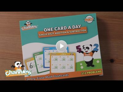 BM301 Dry Erase Single Digit Math Flash Cards_Cover Poster with play button