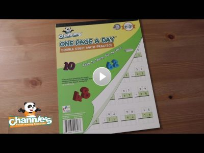 M601 One Page a Day double digit Math_Cover Poster with play button